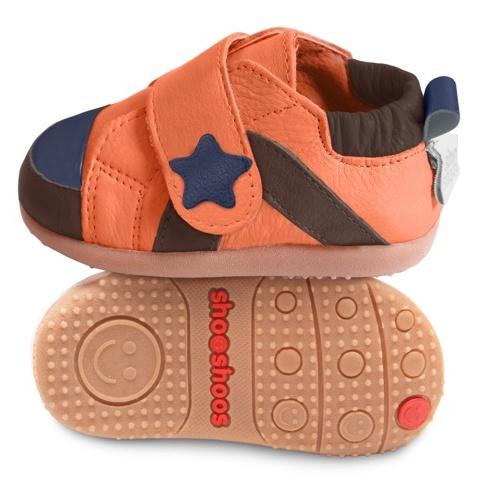 sandalias negras Zapatitos de piel suela dura ShooShoos